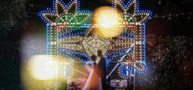 Il matrimonio con le luminarie!